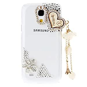 SOL ships in 48 hours Rhinestone Transparent Pattern Hard Back Case with Pearl Tower for Samsung Galaxy S4 Mini I9190