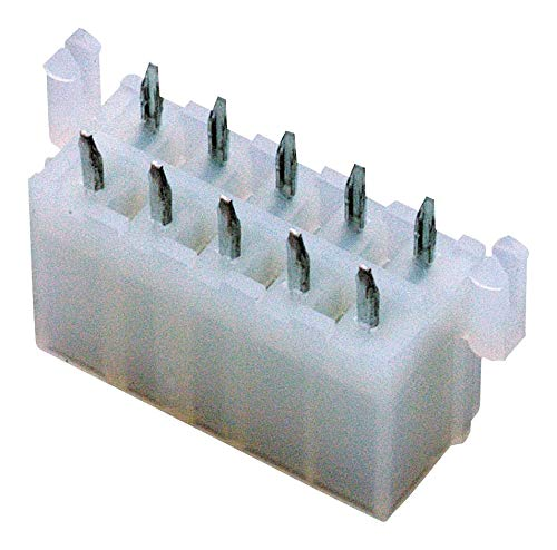 Conn Power HDR 12 POS 4.2mm Solder ST Thru-Hole 12 Terminal 1 Port Mini-Fit Jr Tray - Pack of 25 ( 39-29-9127 )