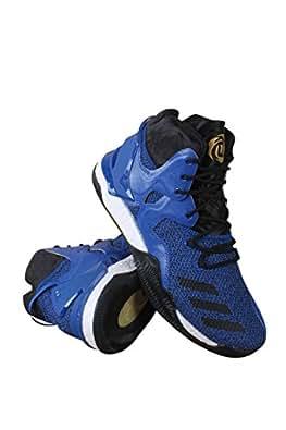 adidas Performance Men's D Rose 7 Basketball Shoe, Blue/Black/Metallic Gold, 6.5 M US