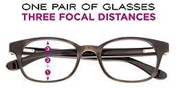 SightLine Multifocal Computer Reading Glasses 6002 Semi-Rimless Designer Frames (2.50, Gunmetal)