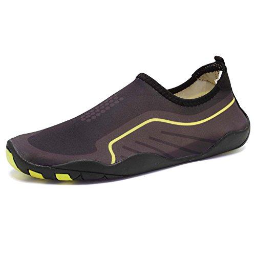 Tcife Männer Frauen Barfuß Wasser Aqua Schuhe Haut flexible Socken für Schwimmen, Wandern, Garten, Park, Fahren, Yoga, See, Strand Schwarz