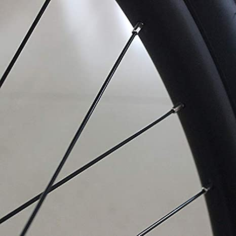 Oraunent 36pcs Bike Spoke 14G J Bend Steel Bicycle Spokes Black Bike Wheel Rim with Nipples