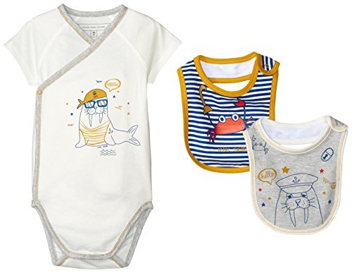 Price comparison product image Little Marc Jacobs Baby Boys Bodysuit with 2 Bibs Newborn Boy,  Off White,  3 Month
