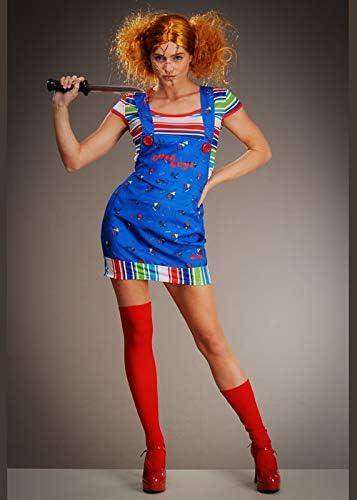 Struts Disfraz de niña Chucky Linda para niños Medium (UK 12-14 ...