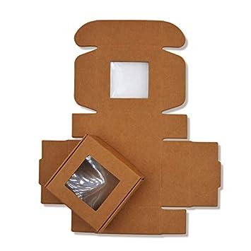 Amazon.com: XLPD - Caja de papel kraft con ventana de PVC ...