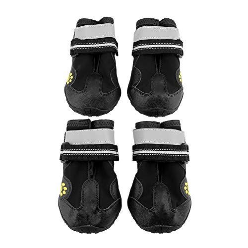 Fdit Socialme Zapatos de Perros Impermeables Antideslizantes Calzado de Mascota con Malla Suave Transpirable Botas para...