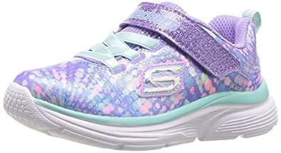 Skechers Australia Wavy Lites Girls Training Shoe, Lavender/Multi, 5 US