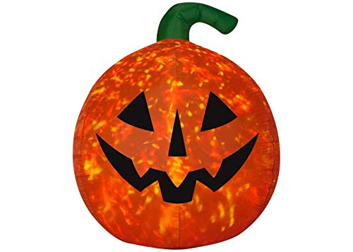 target Inflatable Hyde and Eek!Boutique Halloween 5' LED Scary Pumpkin Kaleidoscope Airblown