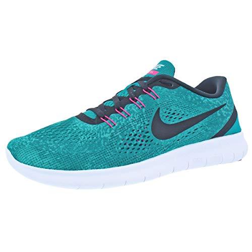 Nike Womens Free RN Print Lightweight Running Shoes Green 12 Medium (B,M)