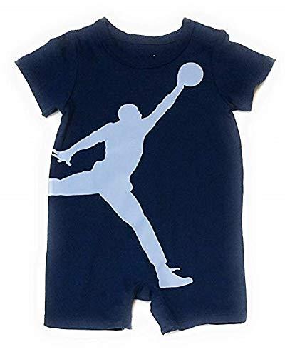 Nike Air Jordan Baby Boys Romper - Navy (3/6 Months) - Michael Jordan Baby Apparel