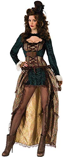 Short Skirt Long Jacket Halloween Costume (Forum Novelties Women's Madame Steampunk Costume, Multi,)