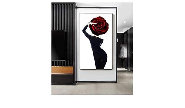 Arte de la Pared Lienzo Abstracto Sexy Busty Beauty Posters Pintura Arte Moderno Imagen Impreso Decoración para el hogar Sala de Estar 60x80cm Sin Marco: Amazon.es: Hogar