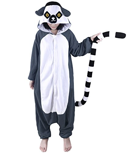 WOTOGOLD Animal Cosplay Costume Lemur Unisex Adult Pajamas ,X-Large,Lemur ()