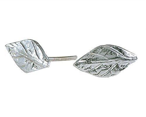 aa223c125 Amazon.com: Sterling Silver Leaf Stud Earrings Dainty Everyday tiny Studs:  Handmade