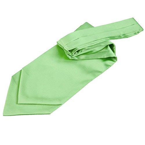 Plain Lime Wedding DQT Cravat Self Men with Green Satin Ascot Cravat Pin Tie twPpqPr5