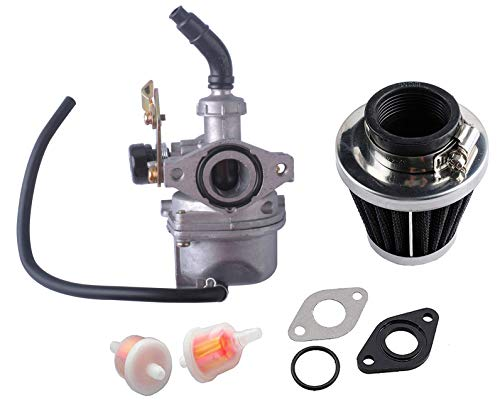 Podoy PZ19 Carburetor for Taotao ATV Cable Choke Carb Gaskets with 35mm Motorcycle Air Filter Fuel Filters for Chinese Made 50cc 70cc 90cc 100cc 110cc 125cc Dirt Bike Scooter Moped Go karts