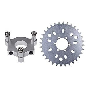 UAUS 32 T Sprocket with CNC Adapter Fit 1.5 inch hub 415 Chain 49cc 50cc 66cc 80cc 2 Stroke Motorized Bike Motorised Bicycle