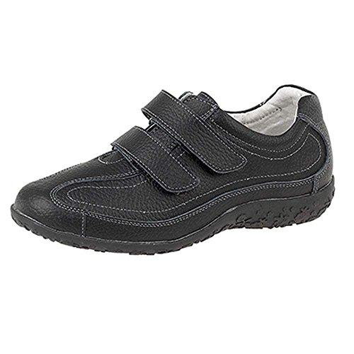 Taille À Cuir Coupe Large Décontractée 3–9 Chaussures En Eee Pour Femme Extra Velcro Boulevard 7fqFpp