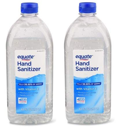 Amazon com : Equate Hand Sanitizer, 60 Oz (Pack of 2) : Beauty