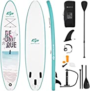 Goplus Inflatable Stand up Paddle Board Surfboard SUP Board with Adjustable Paddle Carry Bag Manual Pump Repai