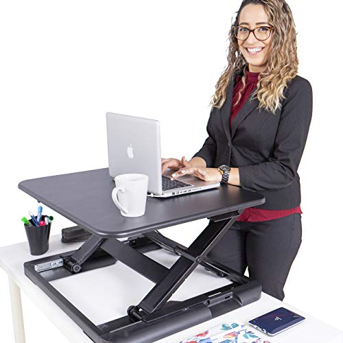 TOTALPACK Standing Desk Sit Stand Desk Converter - Anti Fatigue Height Adjustable Workstation, Extra Large 26.5