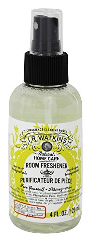 JR Watkins Room Spray 4oz Aloe Green Tea (Pack of 2) (Tea Room Green)