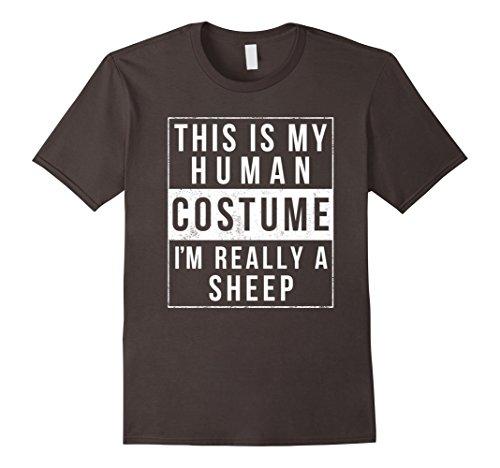 Toddler Sheep Costumes (Mens Sheep Halloween Costume TShirt Easy Funny Kids Adult 2XL Asphalt)