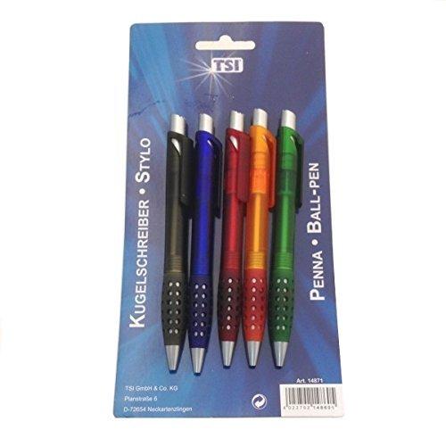 B027 5 Ballpoint Pen in Blister Pack-Writes in all Blue