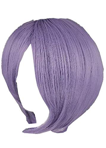 RyuLifeStyle Short Purple Synthetic Hair for Cosplay Suzumiya Haruhi Nagato Yuki Cosplay Wig+Free Cap