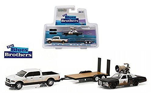 NEW 1:64 GREENLIGHT HOLLYWOOD HITCH & TOW SERIES 1 COLLECTION - BLACK WHITE THE BLUES BROTHERS 1974 DODGE MONACO