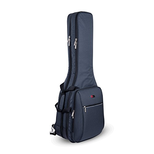 Rocktraveler Case Deluxe Double 2 x Electric Guitar Gig Bag in Grey