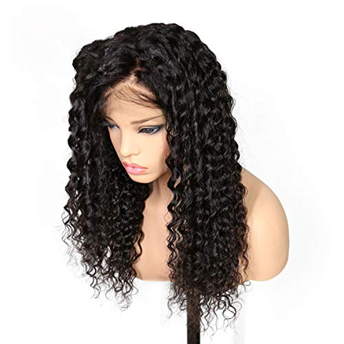 Lace Front Human Hair Wigs For Black Women Natural Color Deep Wave Curly Brazilian Remy Hair -