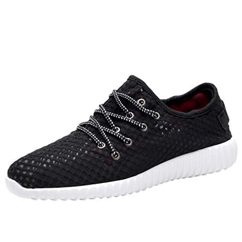 JJLIKER Men's Lightweight Breathable Mesh Street Sport Walking Shoes Casual Sneakers for Sports Gym Walking ()