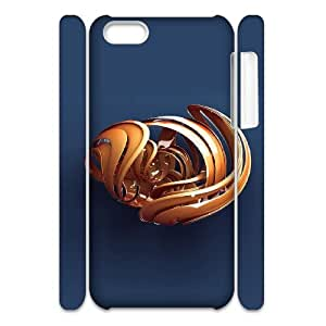 3D 3D 55 IPhone 5C Case, Mens Designer Case Cell Phone Case for Iphone 5c Okaycosama {White}
