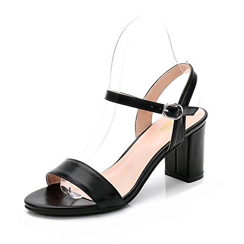 Mujer EU37 Negrita De Dew La Con Zapatos High Sujetadores SHOESHAOGE Minimalist Ranurado Heeled En Eu36 Sandals Como Chica 6qwx6nTZE