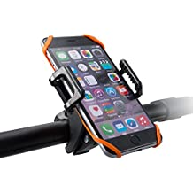Phone Holder for Bike, TaoTronics Bike Phone Mount Holder, Bicycle Cradle for iPhone 4s 5s 6s 7 8 plus Gaxlxy S6 S7, GPS and other Devices (One-button Release, 360 Rotatable, Rubber Strap)