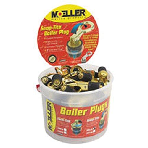 Snap Tite Bailer Plug (Moeller 029000-50 Snap-Tite Brass Bailer Plug Display Bucket - 50 Piece)