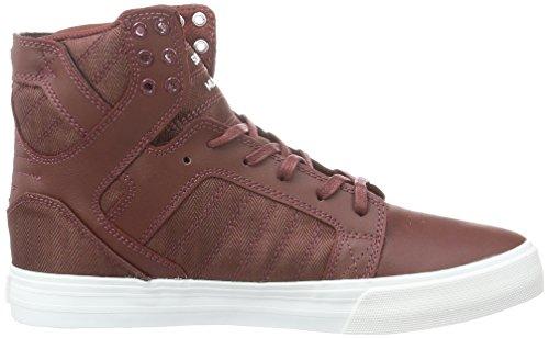 Supra 08174-650-M - Zapatillas altas para hombre Rojo (Burgundy - White 650)