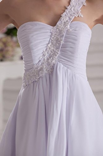 Chiffon Kurz Schulter BRIDE Elfenbein Abendkleid GEORGE Eine qwPtx8x