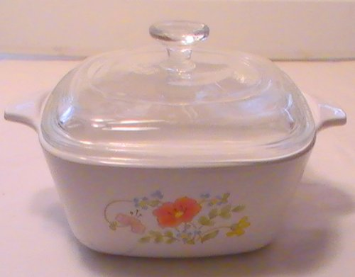 Corelle With Lid Casserole - Corning Corelle Wildflower Petite Casserole Dish with Glass Lid - P-43-B