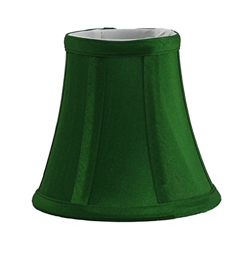 Urbanest Kelly Green Silk Bell Chandelier Lamp Shade, 3-inch by 5-inch by 4.5-inch, Clip-on