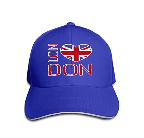 YILINGER Adult Grid Baseball Caps Unisex Sunshade Hat Mesh Hat Snapback Cap London City Typography British Flag Fashion Printing Design SPO Blue -