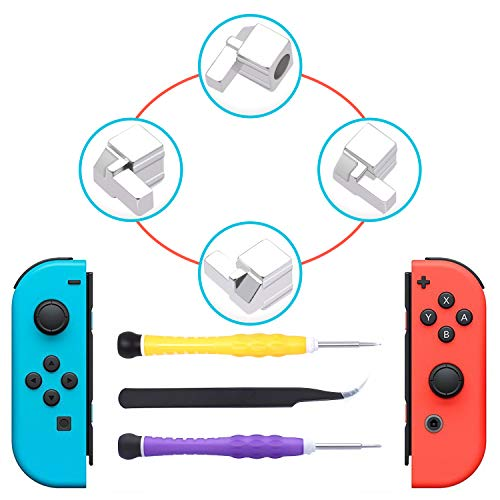 Found Metal Charms Wings - [New Version] Replacement Latches for Nintendo Switch Joy-Con,Lock Buckles Repair Tool Kit for Switch Joy-Cons with Screwdrivers and Tweezer