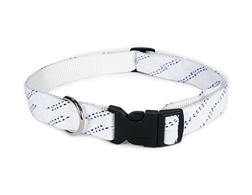 Hockey Lace Dog Collar for Large to Extra Large Dogs