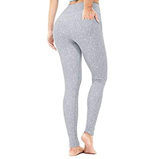 365 DAYS Carry Buttock Higth Waist Yoga Pants for Women Pattern Tummy Control 4 Way Stretch Workout Running Pants (Gray, 2X-Large)