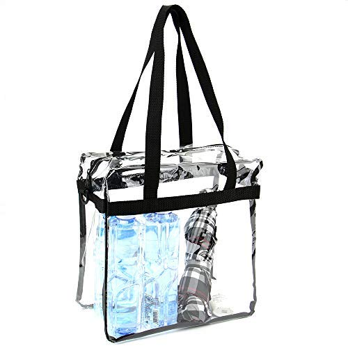 Jomparo 12''X12''X6'' Clear Tote Bag Stadium Approved Perfect for NCAA NFL PGA Work Sports Games by Jomparo (Image #3)