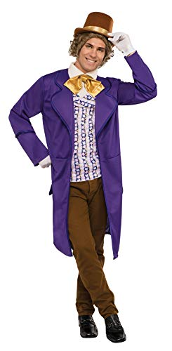 Rubie's Men's Wonka & The Chocolate Factory Deluxe Willy Wonka Costume, Multi, Standard -