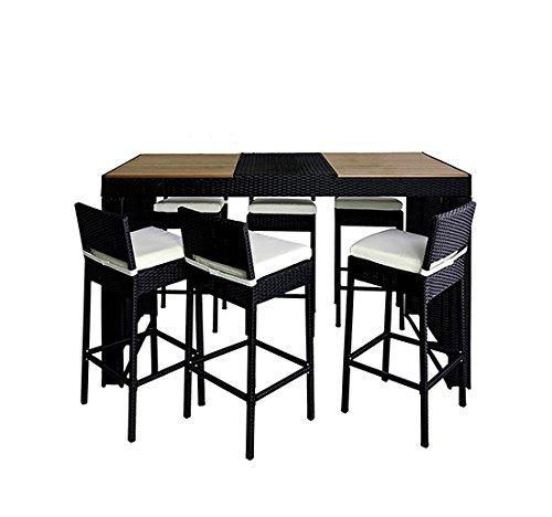 homcom gartenm bel polyrattan 13 er teilig rattan gartenset bar sitzgruppe barhocker set. Black Bedroom Furniture Sets. Home Design Ideas