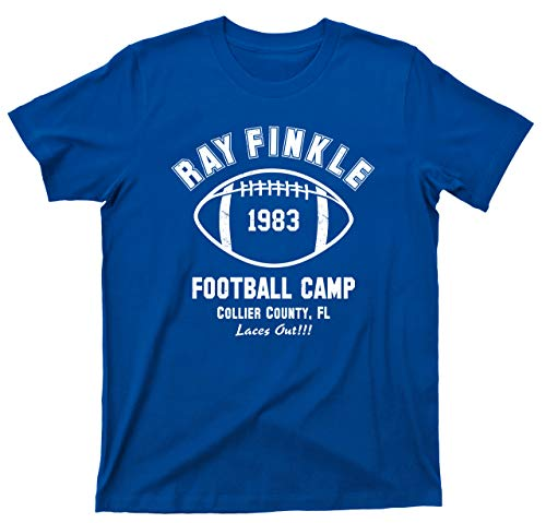 (Ace Ventura T Shirt Pet Detective Ray Finkle Football Camp Laces Out Jim Carrey Movie Tee (Large, Royal Blue))