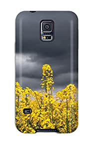 New Fashion Premium Tpu Case Cover For Galaxy S5 - Flower